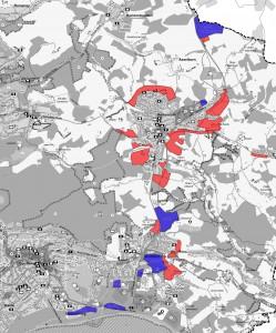 Blau=Gewerbegebiete / Rot=Wohngebiete / Größe= 1.6MB
